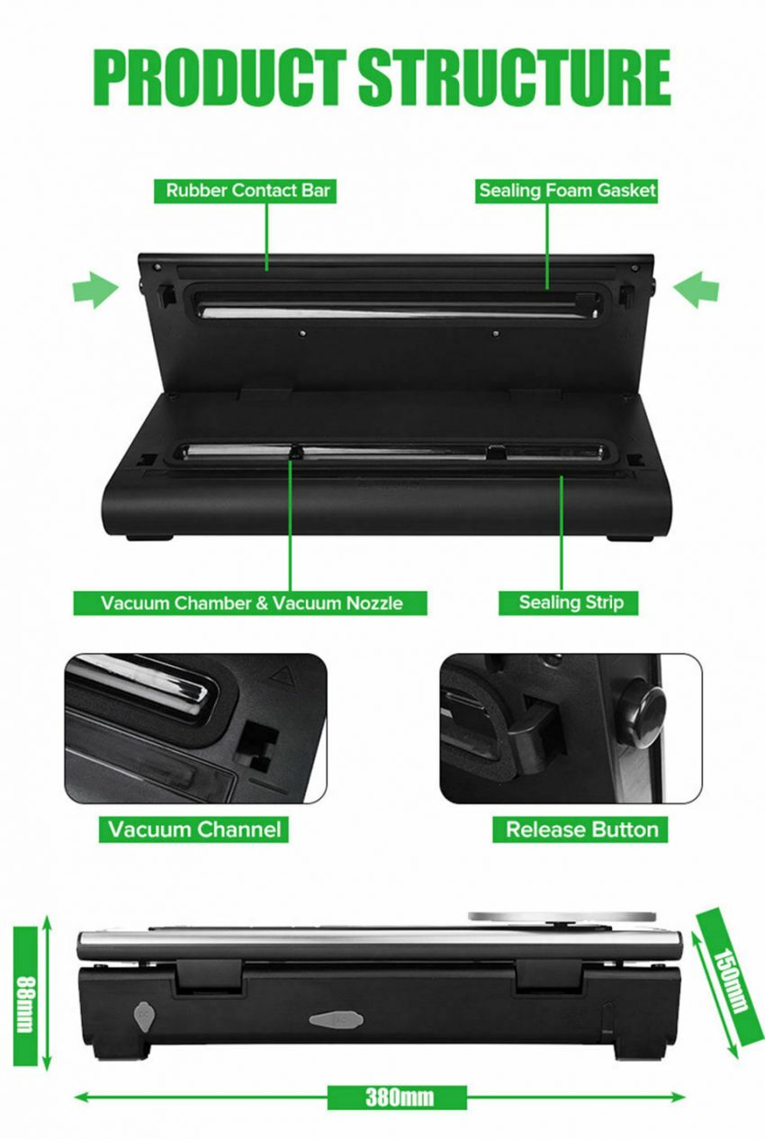 Commercial Food Vacuum Sealer with Digital Scale Stainless Steel Seal Machine 5