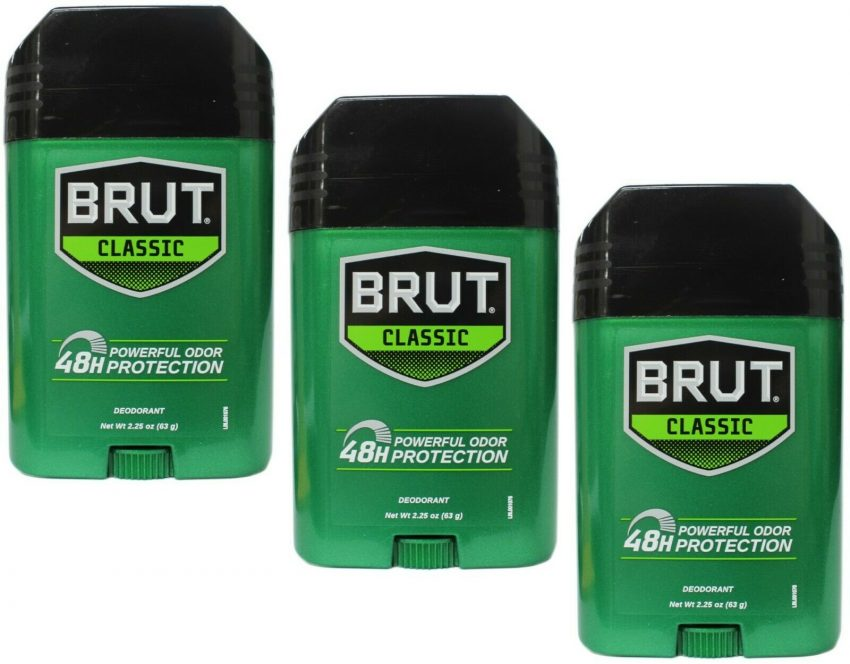 Brut Deodorant Oval Classic 48H Protection 2.25 oz (Pack of 3)