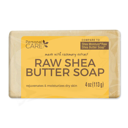 Personal Care Raw Shea Butter Soap. Moisturizes your Skin. 4 Oz. Pack of 6 1