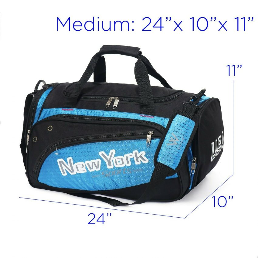 Duffel Bag Gym Carry on Suitcase Lightweight Padded Shoulder Strap 20 4