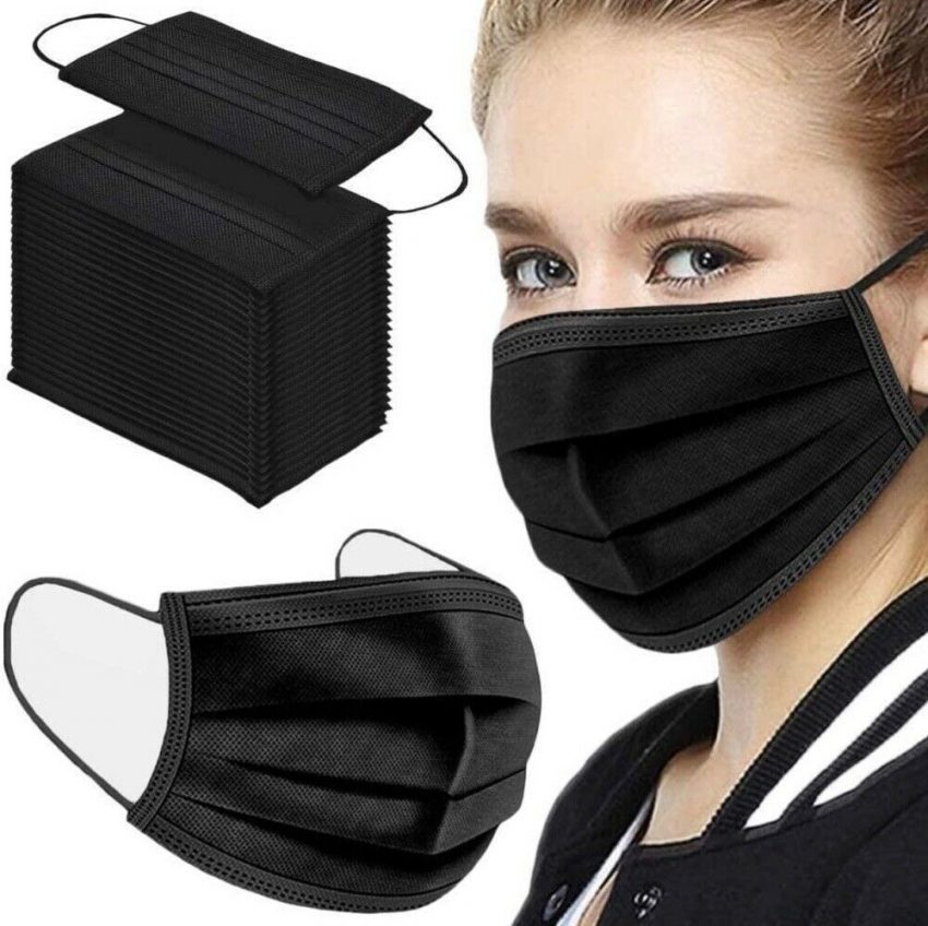 50/100 PCS Color Face Mask Mouth & Nose Protector Respirator Masks with Filter 2