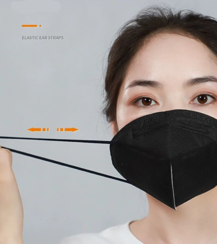 100 Black Color KN95 Protective 5 Layer Face Mask Disposable Respirator BFE 95% 3