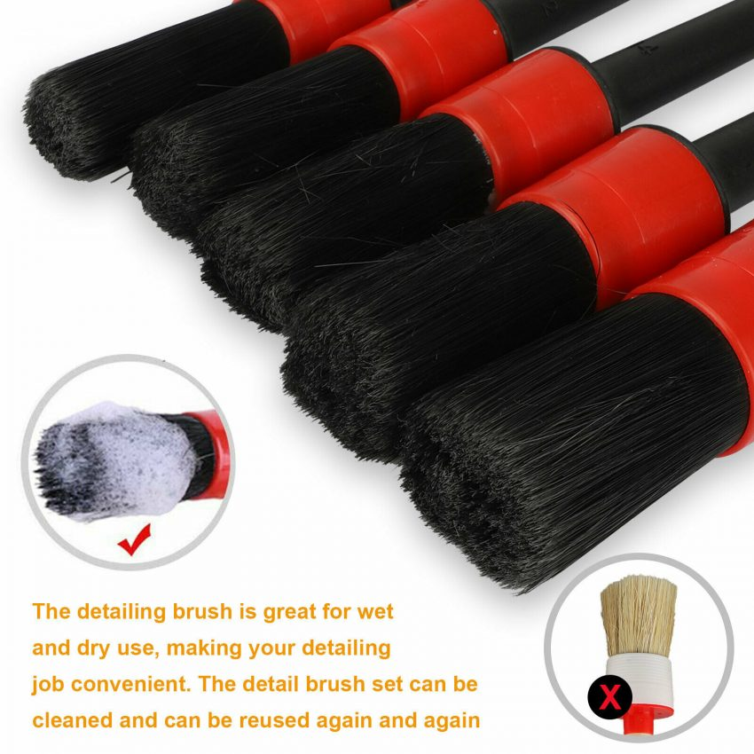 Car Detailing Brush Wash Auto Detailing Cleaning Kit Engine for Wheel Clean Set 3