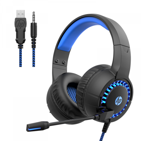 Gaming Headset Wired Over ear Headphone for Smartphone Xbox One, PC w Mic HP
