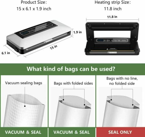 Vacuum Sealer Machine Seal a Meal Food Saver System Automatic With Seal Bags 2