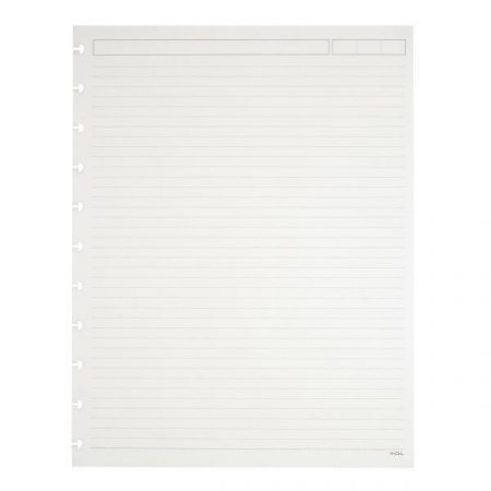 TUL Discbound Notebook Refill Pages, Letter Size, Narrow Ruled, 600 Pages, White
