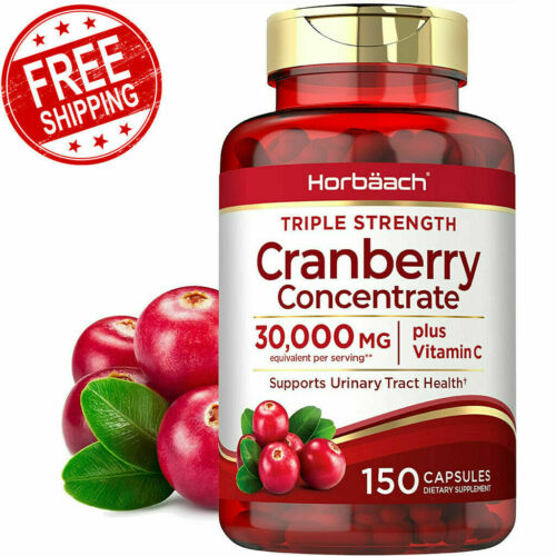 150ct Cranberry Capsules Pills 30,000mg Supplement+Vitamin C,Concentrate Extract
