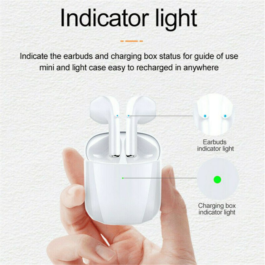 Bluetooth Earbuds Wireless Earphone Noise Cancelling for iphone Samsung Android 3