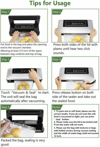 Vacuum Sealer Machine Seal a Meal Food Saver System Automatic With Seal Bags 6