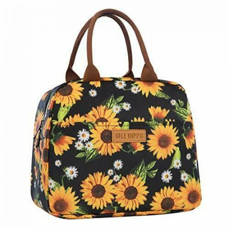 Lunch Bags for Women Insulated Box Cooler Tote Bag Sunflowers Picnic Hiking Work
