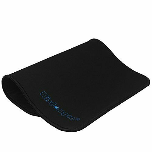 Mouse Pad 2 Packs Wisdompro Ultra Thin Non-Slip Mouse Mat with Black Stitched 5