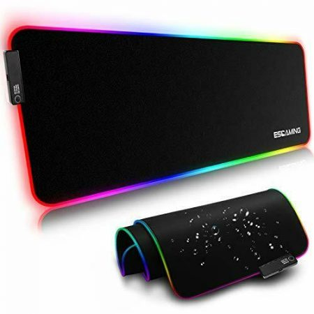 """RGB Gaming Mouse Pad, 31.5"""" x 11.8"""" Large Extended Soft 31.5 x 11.8 x 0.2 Inch"""