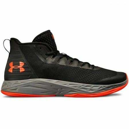 Under Armour Men's UA Jet Mid Basketball Black/Grey/Red Size 10