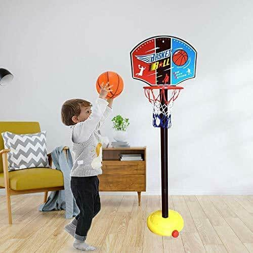 Toddlers Gifts Toys for 1-5 Year Old Boys Girls,Toy Basketball Set for Kids,Edu 5