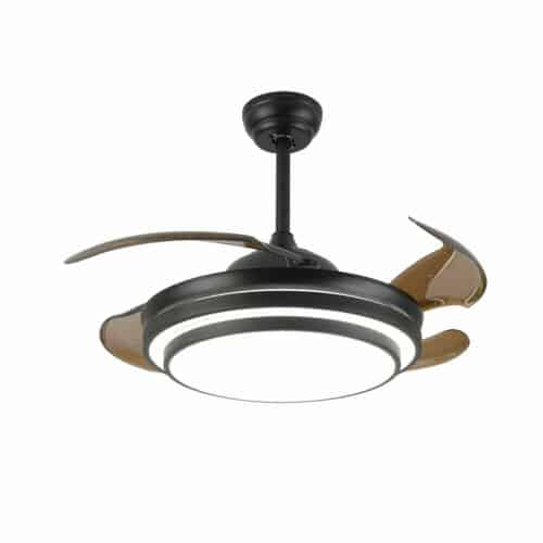 """42"""" Retractable Ceiling Fan Lamp w/ Light Remote Control Dimmable LED Chandelier 5"""