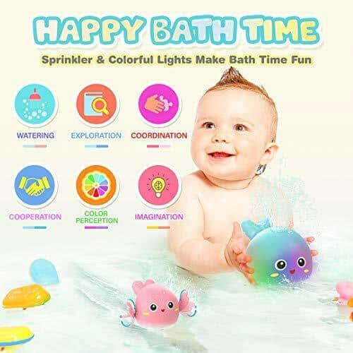 Baby Bath Toys for Toddlers 1 2 3 4 5 Years Old Boys and Girls Kids, Green 4