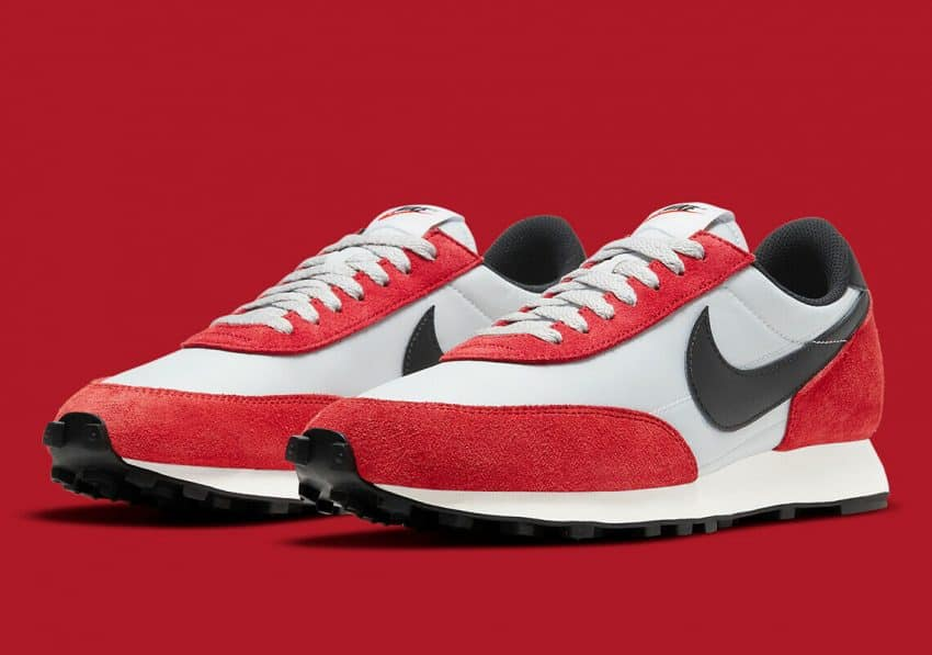 """Nike Daybreak Shoes Pure Platinum Black Gym Red """"Chicago"""" DB4635-001 Men's NEW"""