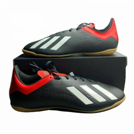 Adidas X 18.4 Turf Soccer Shoes Red Black Men's Indoor Cleats - BB9405 - 2 SIZES
