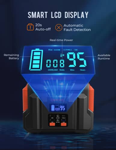 300W Portable Power Station Solar Generator Backup Battery Source Power Supply 2