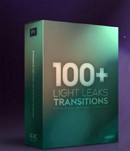 2019 New Video Editing Premiere Pro 100+ Light Leaks Transition Pack