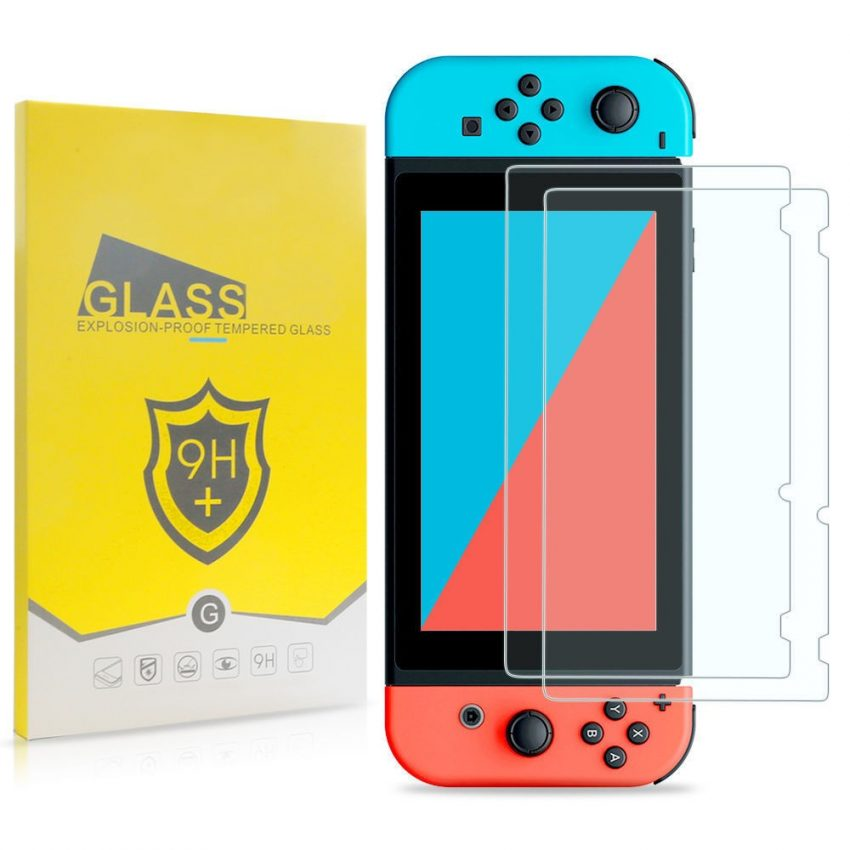 2-Pack Premium HD Tempered Glass Screen Protector Film for Nintendo Switch 1