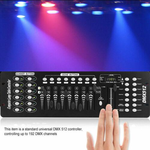 Stage Lighting Console Controller 192CH DMX512 DJ Disco Party Light 4