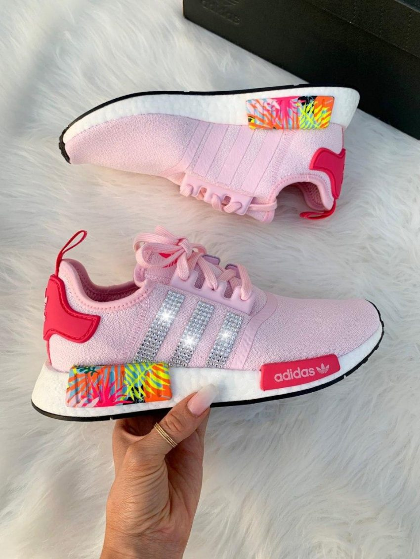 Pink Palm Adidas NMD Runner Casual Shoes (Custom) 1