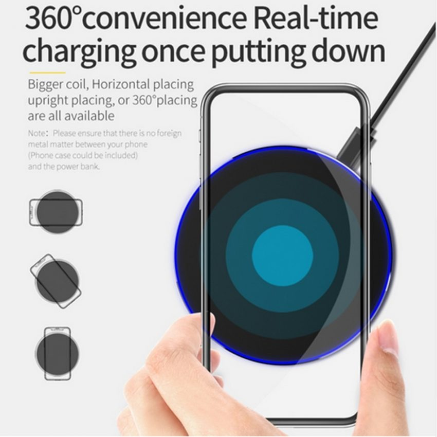 10W Wireless Charger For iPhone 11 8 X XR XS Max QC3.0 Fast Wireless Charging for Samsung S10  Note 8, 9 USB 2