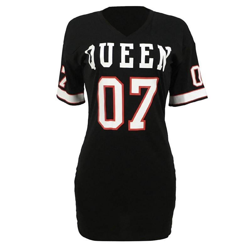 Sexy Queen Letters Printing Bodycon Mini Dress 2