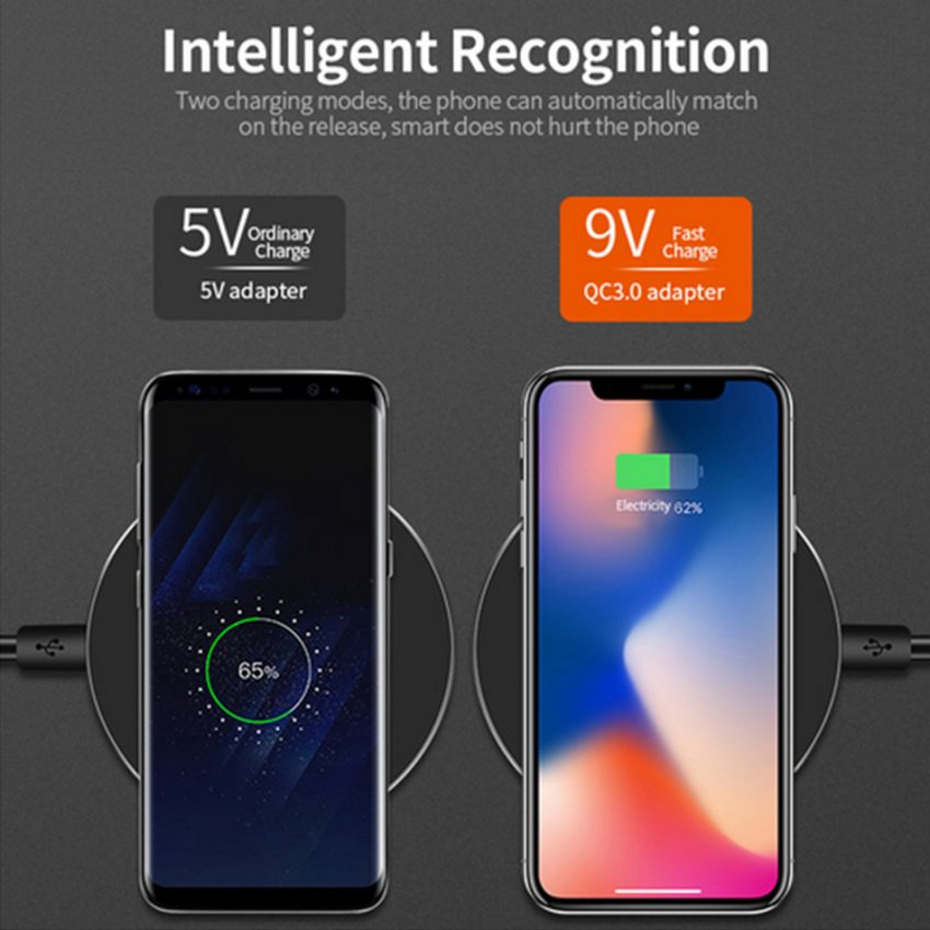 10W Wireless Charger For iPhone 11 8 X XR XS Max QC3.0 Fast Wireless Charging for Samsung S10  Note 8, 9 USB 5