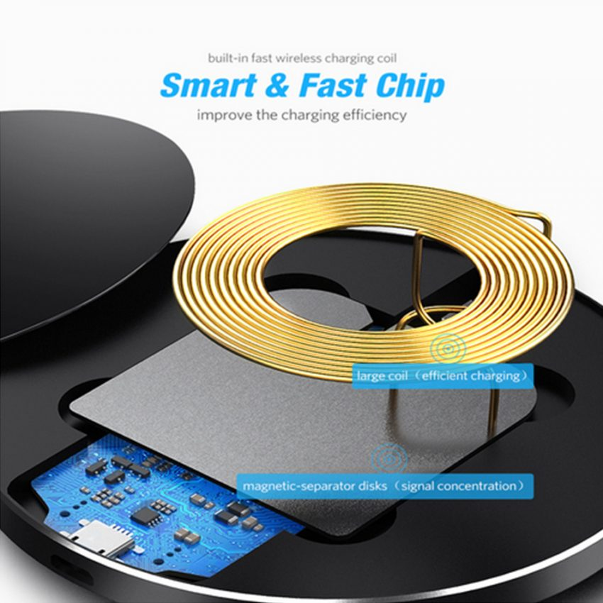 10W Wireless Charger For iPhone 11 8 X XR XS Max QC3.0 Fast Wireless Charging for Samsung S10  Note 8, 9 USB 3