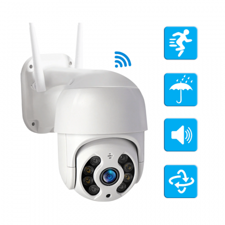 WiFi IP Camera Outdoor Night Vision Mini Speed Dome CCTV Camera 1080P Home Security