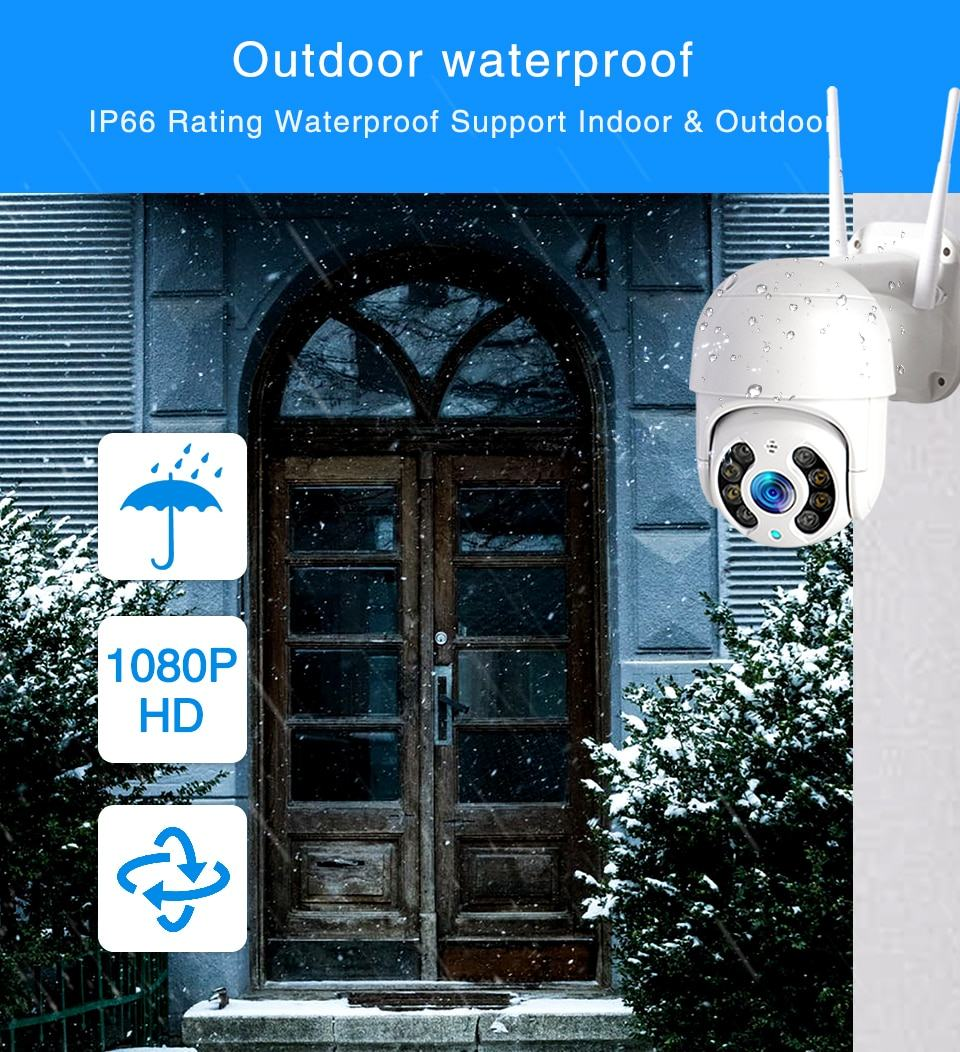 WiFi IP Camera Outdoor Night Vision Mini Speed Dome CCTV Camera 1080P Home Security 6