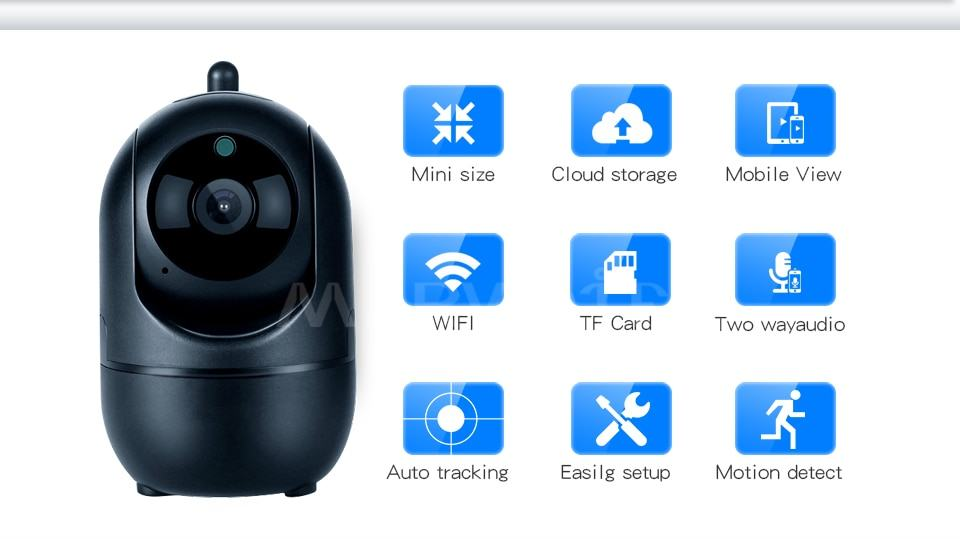 Home Security IP Camera wifi Auto Tracking IP Camera Wifi Motion Detection Two Way 1