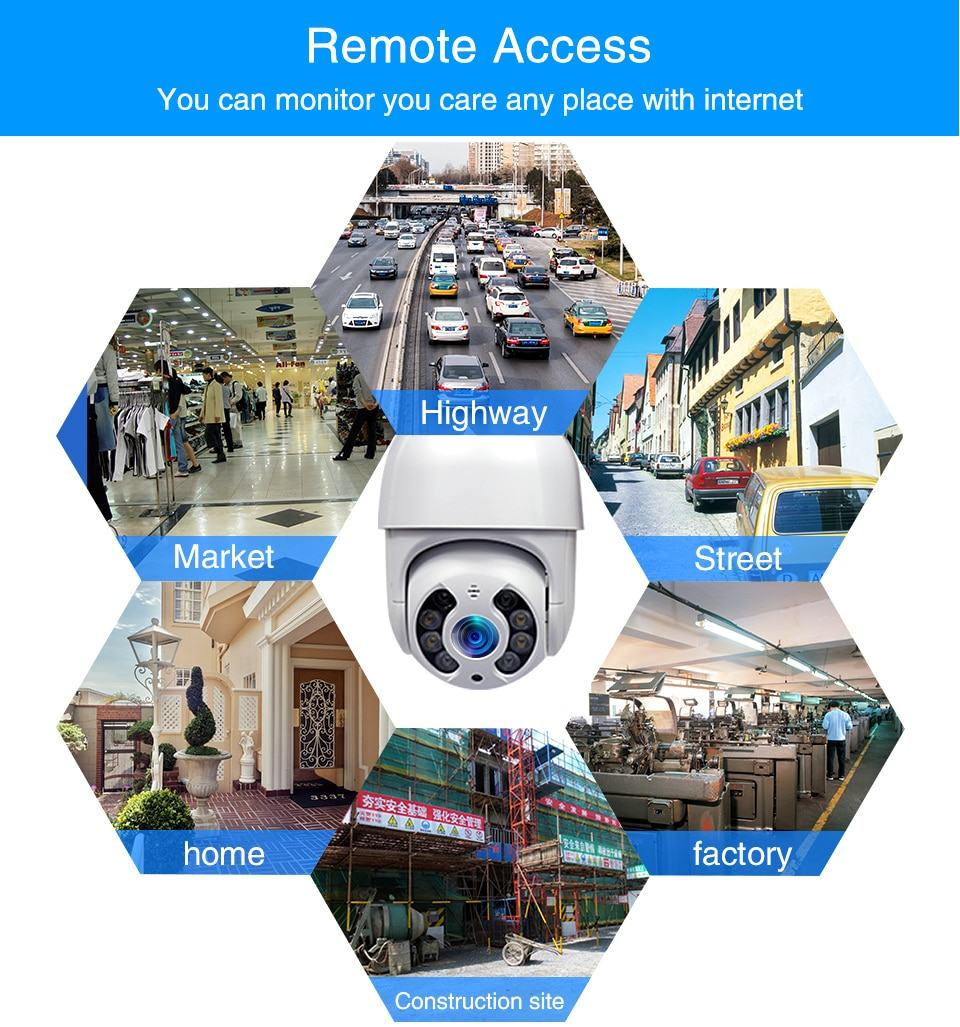 WiFi IP Camera Outdoor Night Vision Mini Speed Dome CCTV Camera 1080P Home Security 14