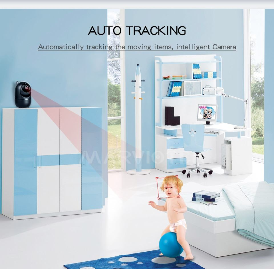 Home Security IP Camera wifi Auto Tracking IP Camera Wifi Motion Detection Two Way 2