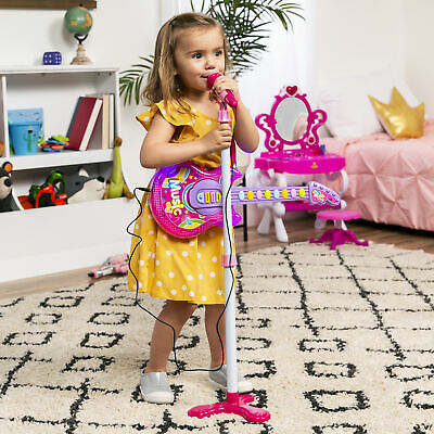 BCP 19in Kids Toddlers Musical Flash Guitar Pretend Play Toy w/ Mic, Stand 1