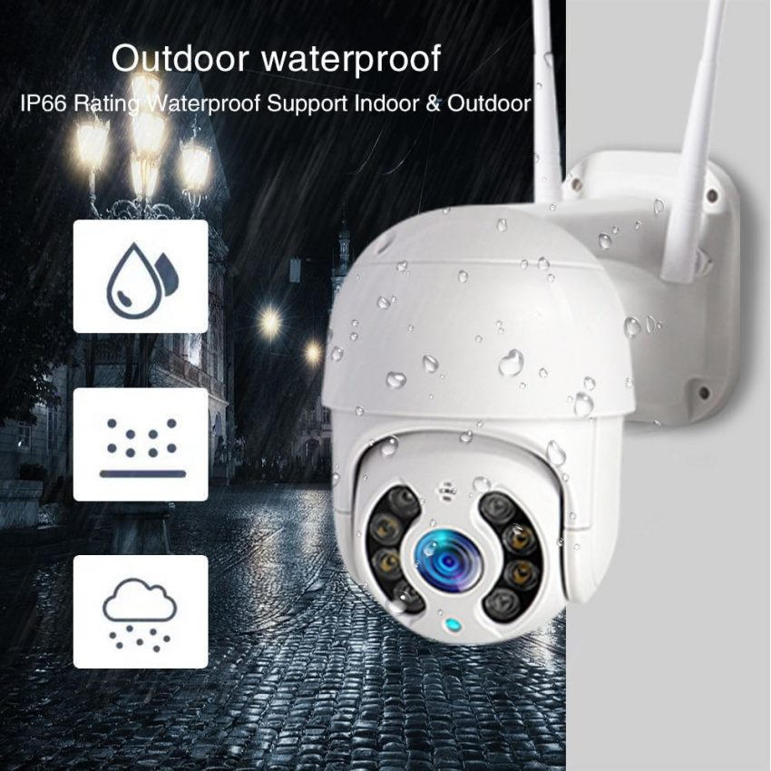 WiFi IP Camera Outdoor Night Vision Mini Speed Dome CCTV Camera 1080P Home Security 4