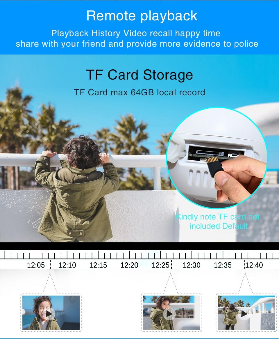 WiFi IP Camera Outdoor Night Vision Mini Speed Dome CCTV Camera 1080P Home Security 12