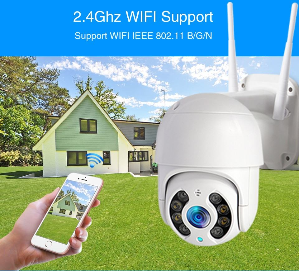WiFi IP Camera Outdoor Night Vision Mini Speed Dome CCTV Camera 1080P Home Security 5