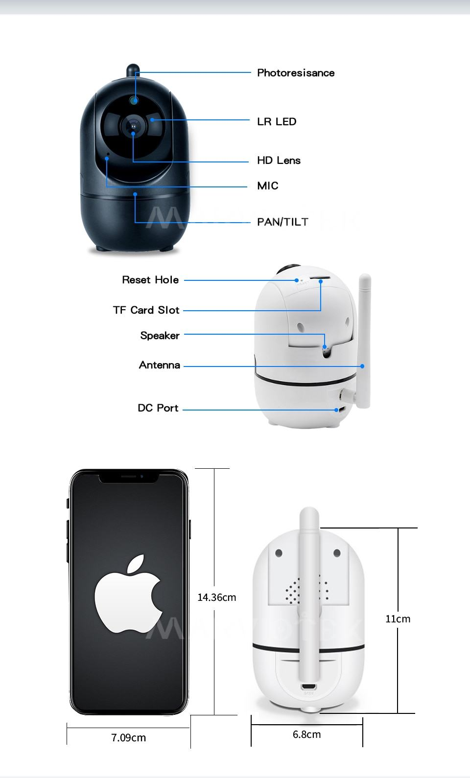 Home Security IP Camera wifi Auto Tracking IP Camera Wifi Motion Detection Two Way 13