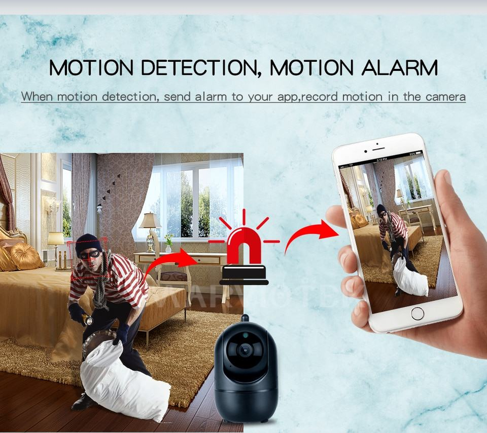 Home Security IP Camera wifi Auto Tracking IP Camera Wifi Motion Detection Two Way 3