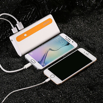 10000mAh External Battery Portable Dual USB Power Bank Charger For Cell Phone 4