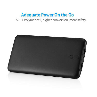 Poweradd 50000mAh 2 USB Port Power Bank Portable Quick Charger for Cell Phone 5