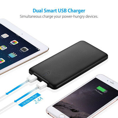 Poweradd 50000mAh 2 USB Port Power Bank Portable Quick Charger for Cell Phone 6