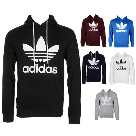 Adidas Men\'s Pouch Pocket Pullover Hoodie