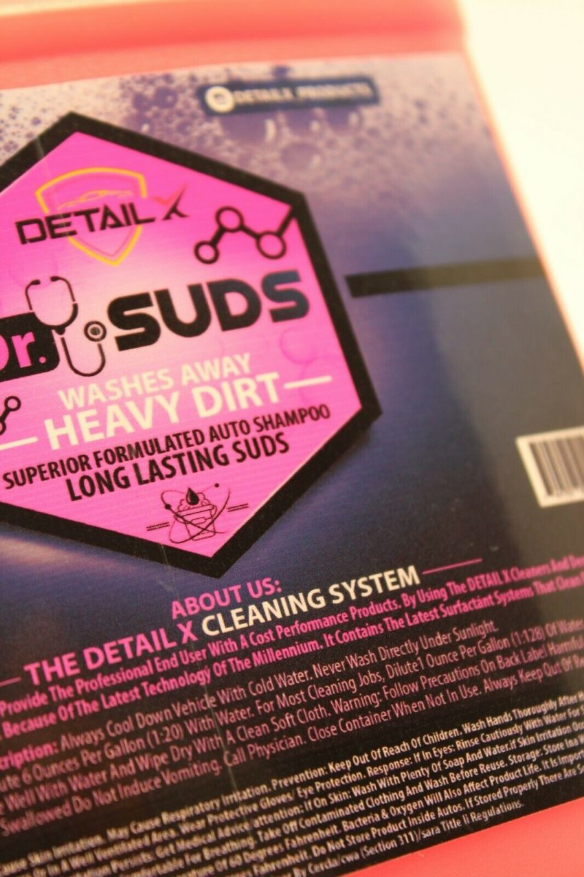 Dr.Suds Car Wash Detail Ultra Foaming Auto Cleaning Hevay Duty Soap 0.5 gallon 1