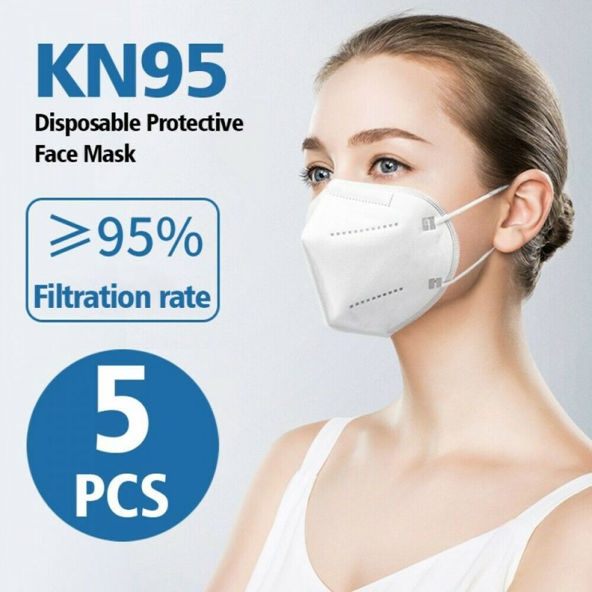10 PCS KN95 Face Mask Disposable Mouth Cover MEDICAL Protective Respirator PM2.5 1