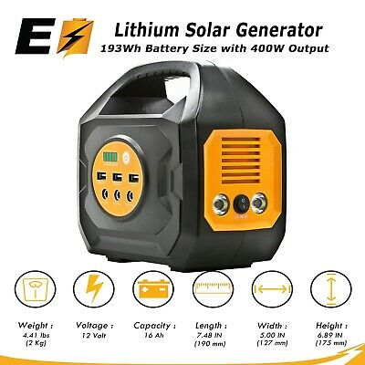 S200 Portable Power Station For Camping and Emergency Uses (Solar/Car/Wall)