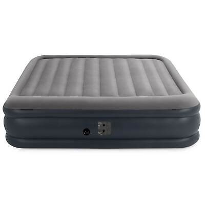 Intex Deluxe Pillow Rest Inflatable Air Mattress with Pump, King (Open Box) 2